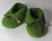 Elf Feet - Infant Slipper Socks for the Holidays - Christmas