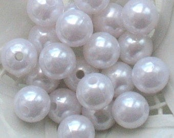 11mm Pearl Gumball Beads White Chunky Pearl Beads Chunky Pearls Chunky Beads Candy Beads Bulk 11mm Beads 11mm Gumball Beads 11mm Pearl Beads