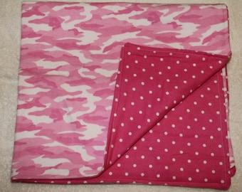 Pink Camo Cuddle Blanket