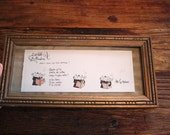 Les tests de Madame : original framed watercolor
