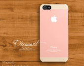 iPhone 5s case, Minimalism iPhone 5 case, case for iPhone 5, blush baby pink peach S523