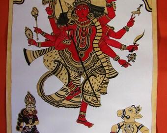 Shiva Shakti ~ Kalamkari