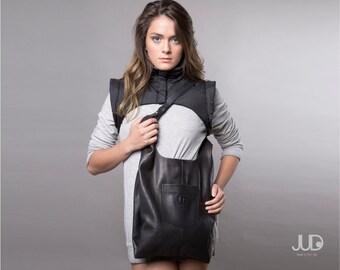 Black Leather bag - leather tote bag - women bags  SALE leather handbag - everyday bag leather shoulder bag shopper bag