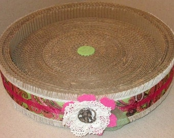 Cardboard Cat Scratcher/Bed - Eco-Friendly, Recyclable