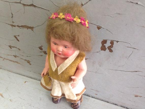 Old Dolls - European Doll - Plastic Doll - Vintage Dolls - Antique Toys