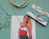 Gold Anchor Necklace - Gold Summer Jewellery
