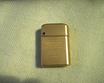 Storm Master Bowers engraved lighter