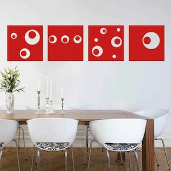 Modern art square wall decals square wall decals square wall for Wall stickers decor modern