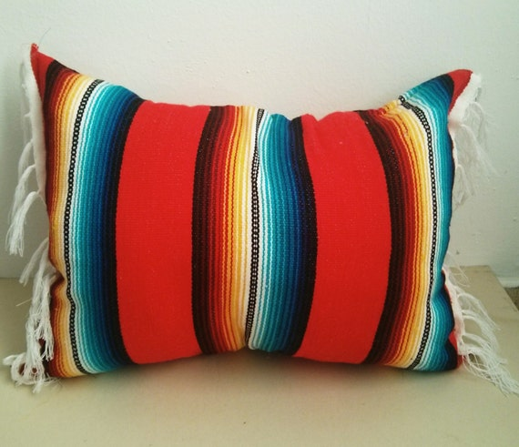 Mexican Blanket Pillow / Home Decor / Gift / By