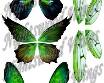 Instant Download OOAK Fairy Pixie Bear Fantasy Wing sheet 03