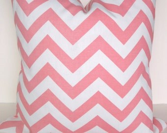 PINK PILLOWS Pink Throw Pillows Pink Chevron Throw Pillow Covers 16 18x18 20 Baby pink Pillow Covers Nursery Girl .All Sizes .Sale.