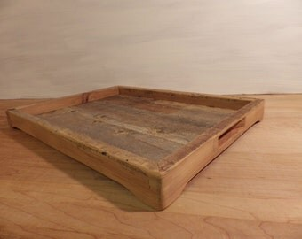 Rustic barn wood serving tray