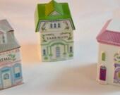 Lenox Spice Village -1989 Complete Set with Shelf