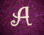 """Wood Letters Unfinished Wood Letters 12"""" Inch Tall Paintable MDF Curlz"""