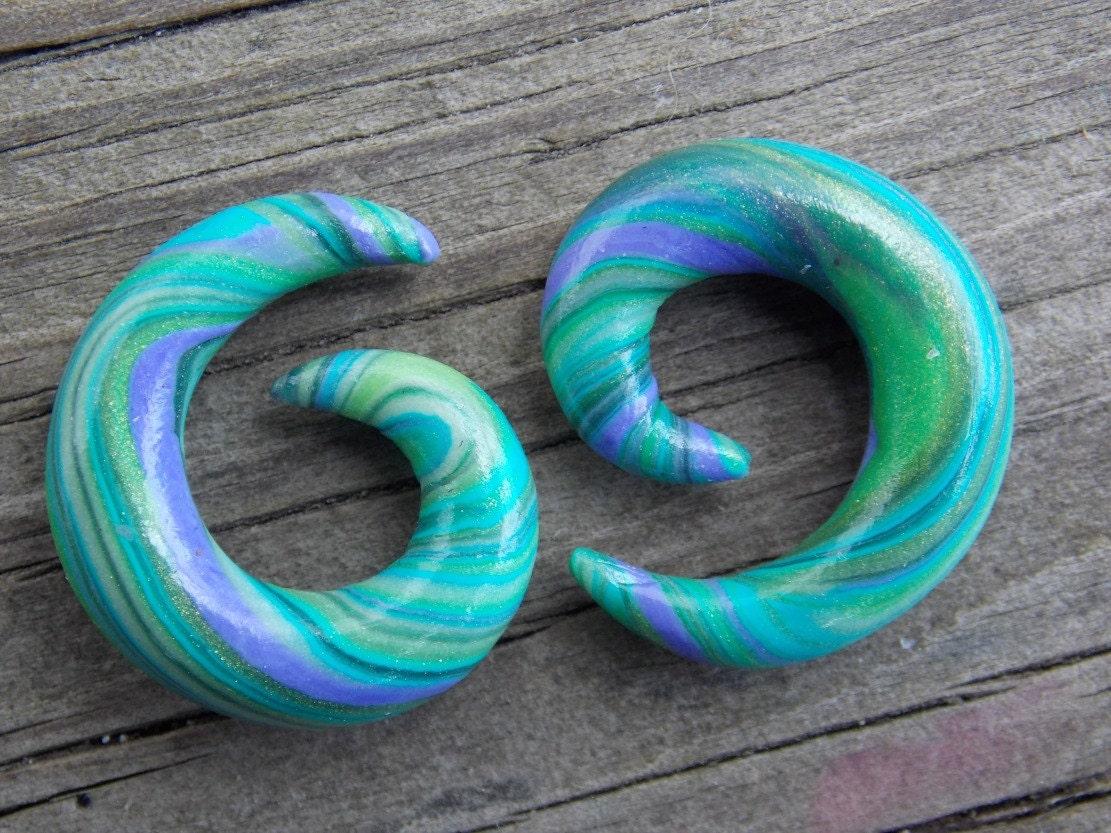 Spiral Ear Gauges Custom Ear Plugs Dangle Ear by ...