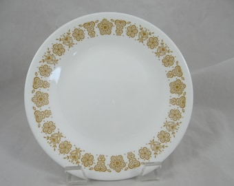 "Vintage Corelle Butterfly Gold Dinner Plate - 10.25"" Plate - Mid Century Modern Dinnerware - White Dinner Plates  - 14 Available - Pyrex"