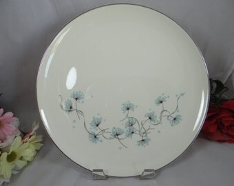 1950s Taylor Smith Versatile China Blue Lace Salad Plate - Made in the USA
