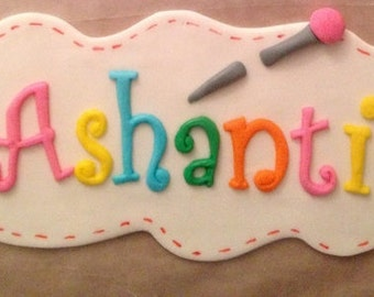 Lalaloopsy Inspired Fondant Name Plaque