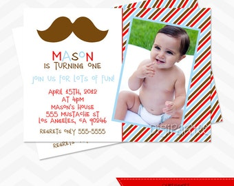 Mustache Invitation - Little Man