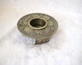 Egyptian, African  metal candle holder, votive holder, asian decor, chinoiserie chic