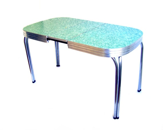 vintage formica table mint green formica dinette by