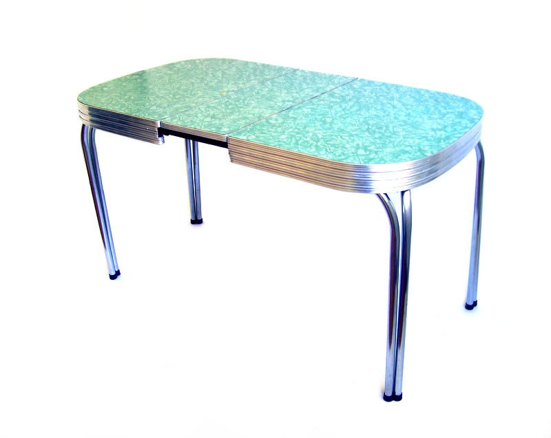 Vintage formica table mint green formica dinette by for Retro dining table