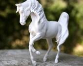 White Bone China Arabian Stallion Unglazed Horse Sculpture Ceramic Figurine Gift for horse lover Monya