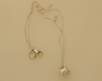 Small  silver scoop slug  pendant  from the sabrawear collection  .Gift for her,ready to ship
