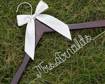 Promotion, Name Hanger, Wedding Hanger, Personalized Custom Bridal Hanger, Brides Hanger, Bride Name Hanger, Personalized Bridal Gift