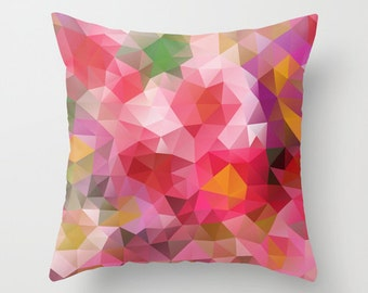 Pillow Cushion Covers Pillow Cover Pillow Case Designer Throw Decorative Geometric Pillow Art Cover Pillow Accent Pillow Pink Flower 16x16