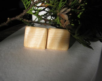 Curly maple cuff links.