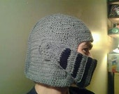 Knights Helmet Winter Hat with Movable Face Mask - Large