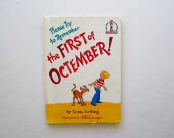 Please Try to Remember the First of Octember - Bright and Early Book for Beginning Beginners - Children's Book, Story Book