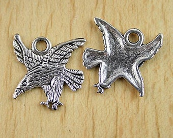 10pcs  flying eagle charm pendants (H0164 or h2824)