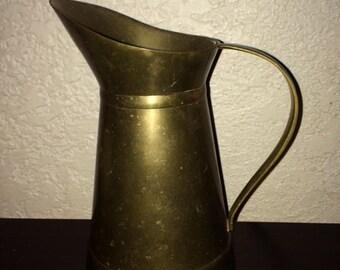 Vintage solid brass pitcher