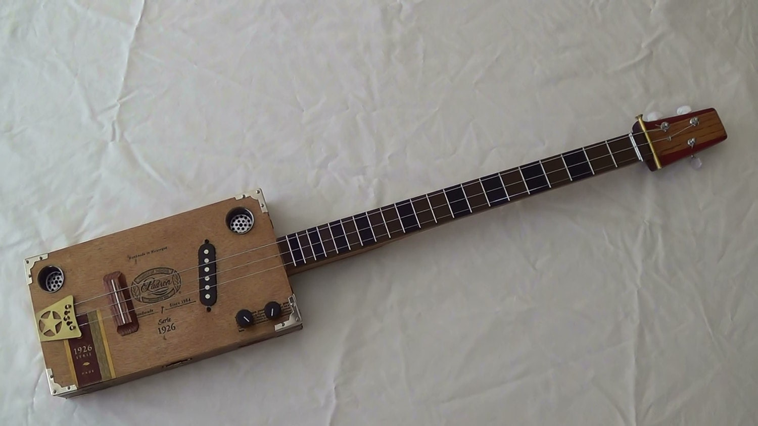 String padron electric cigar box guitar by cigarboxguitarsbywes