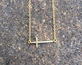 Scout - Dainty Gold Cross Necklace - Gold