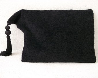 Portfolio clutch cover and I-Pad, all in one, in black Luci Lü