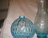 Beach aqua glass vase Art glass