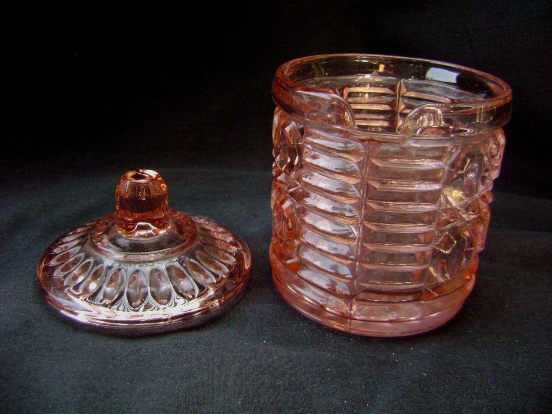 Vintage Windsor Pink Depression Glass Jam Or Jelly Server