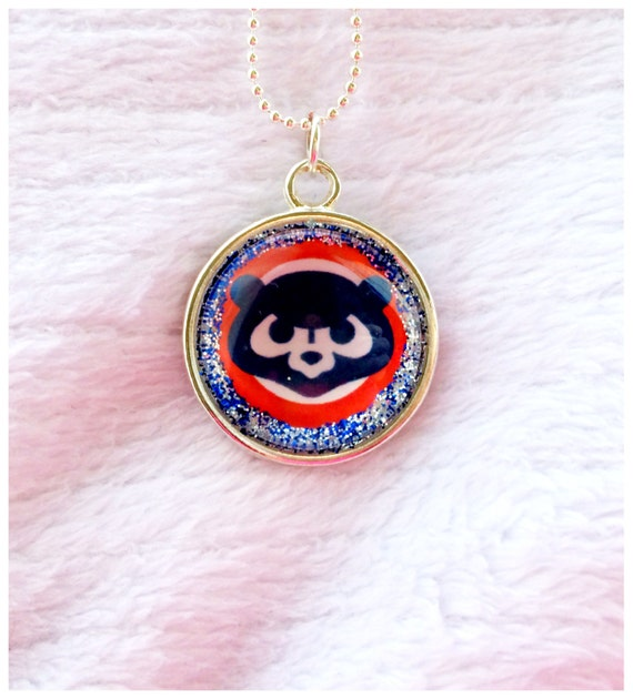 items similar to chicago cubs necklace chicago cubs