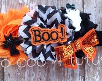 Halloween boo headband