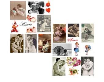 Amore Digital Collage Set