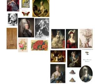 SALE******Marie Antoinette Digital Collage Set****** SALE