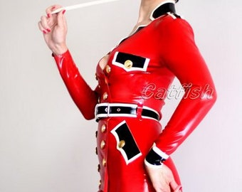 Tight&Sexy Lady Latex Uniform,Latex Clothing