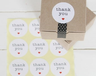 Favor Thank You Stickers | 90 ROUND White Thank You Labels Stickers | Wedding Favors etc.