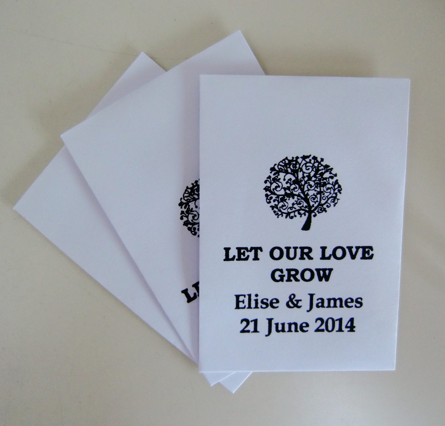 150 Wedding Favors Seed Packet Favors Eco White By IzzyandLoll