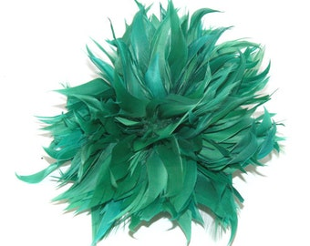 Green Fascinator feather brooch fascinator clip or pin