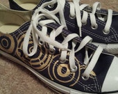 Hand-painted Custom Doctor Who shoes on Converse