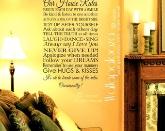 Our House Rules Wall decal - Family Rules Wall decal - In this house wall decal - Family decal - Love wall decal - wall decal - wall decor